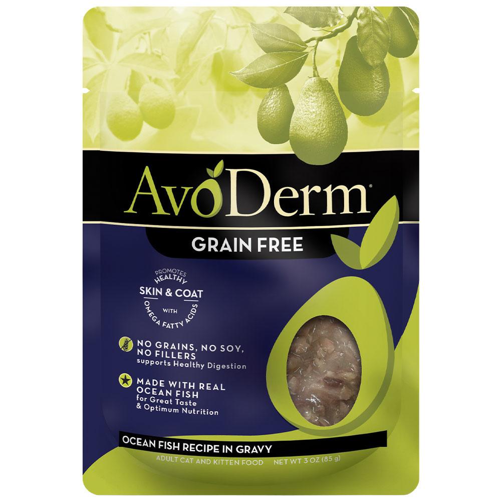 AvoDerm AvoDerm Ocean Fish in Gravy Wet Cat Food Pouch 3oz