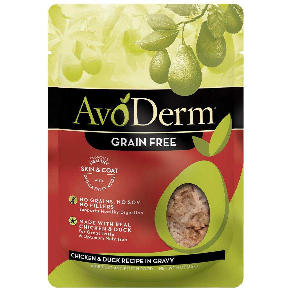 AvoDerm AvoDerm Chicken & Duck in Gravy Wet Cat Food Pouch 3oz