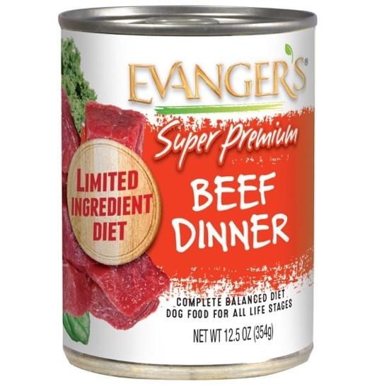 Evanger's Evanger's Super Premium Beef Dinner Wet Dog Food 13oz