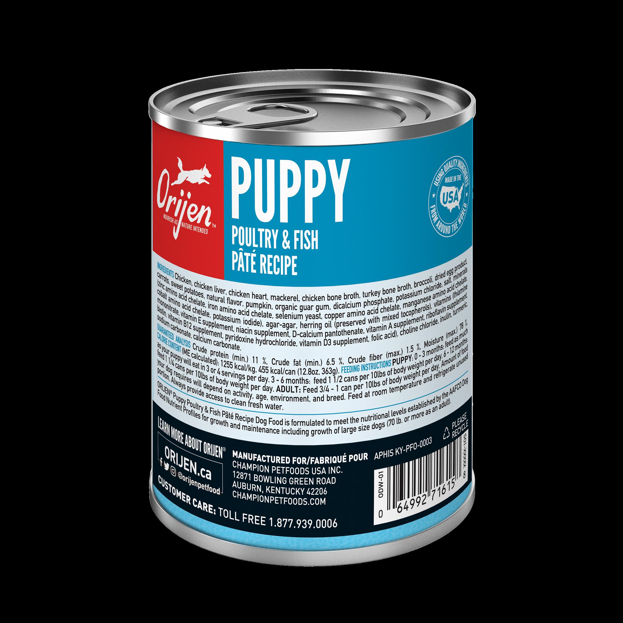 Orijen Orijen Puppy Poultry & Fish Recipe Wet Dog Food 12.8oz