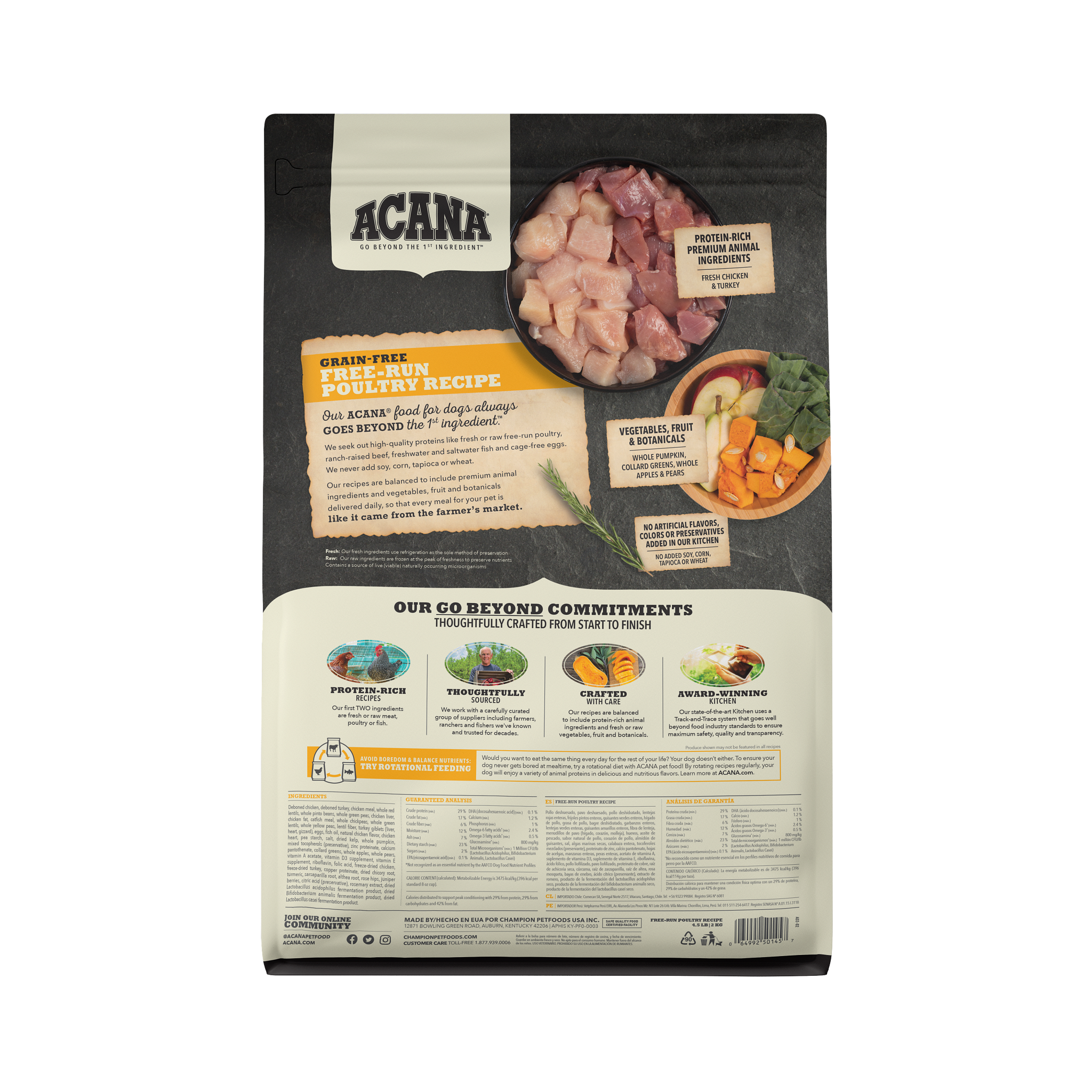 Acana Acana Heritage Free Run Poultry Dry Dog Food