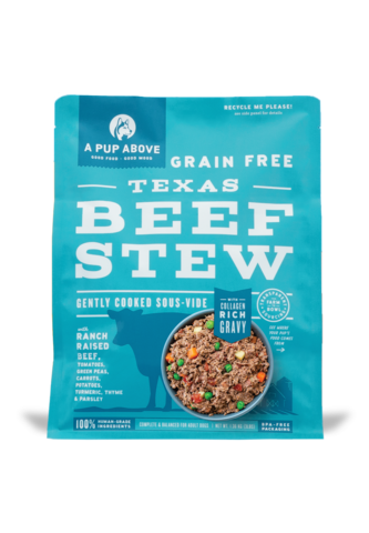 A Pup Above A Pup Above Texas Beef Stew Lightly Cooked Dog Food