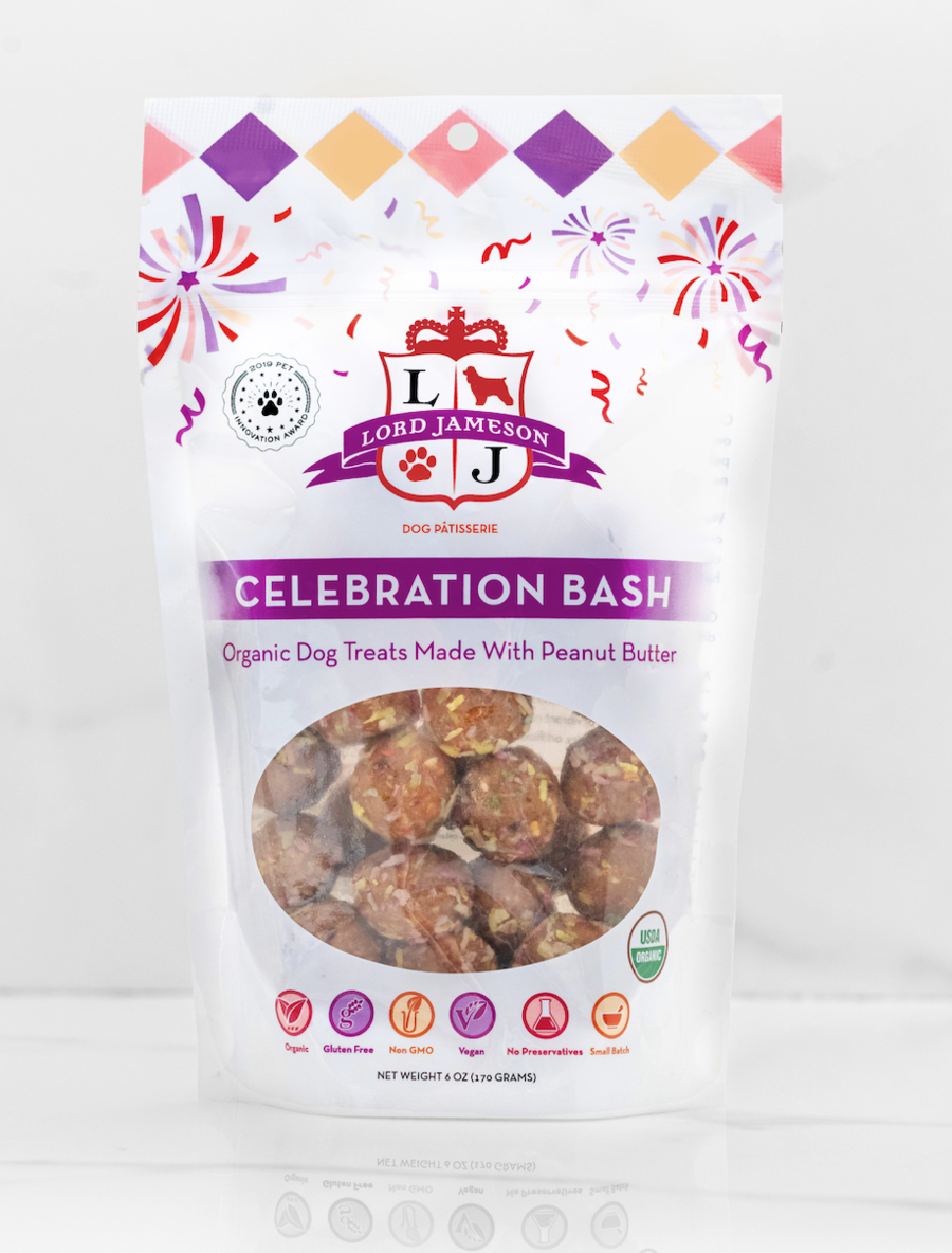 Lord Jameson Lord Jameson Celebration Bash Party Colored Coconut & Peanut Butter Dog Treat 6oz