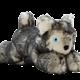 Fluff & Tuff Fluff & Tuff Blanca Wolf Dog Toy