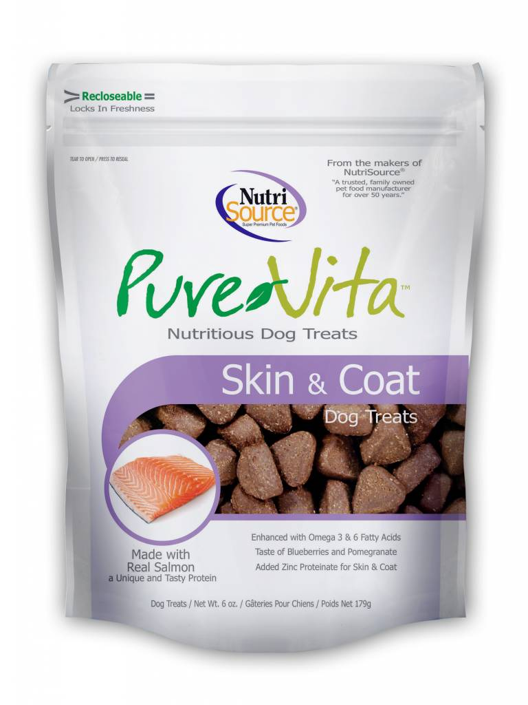 NutriSource PureVita Skin & Coat Dog Treats 6oz