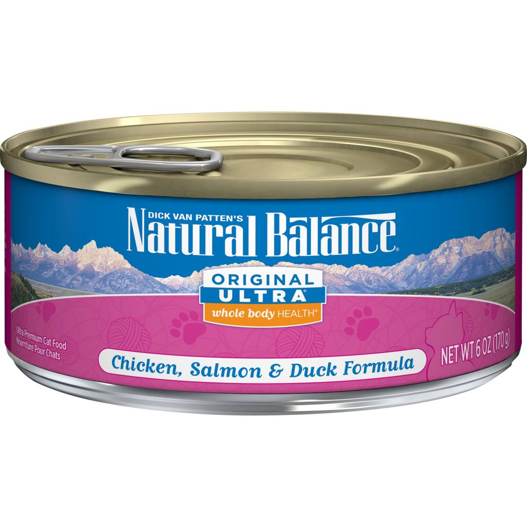 Natural Balance Natural Balance Ultra Chicken, Salmon & Duck Wet Cat Food 6oz