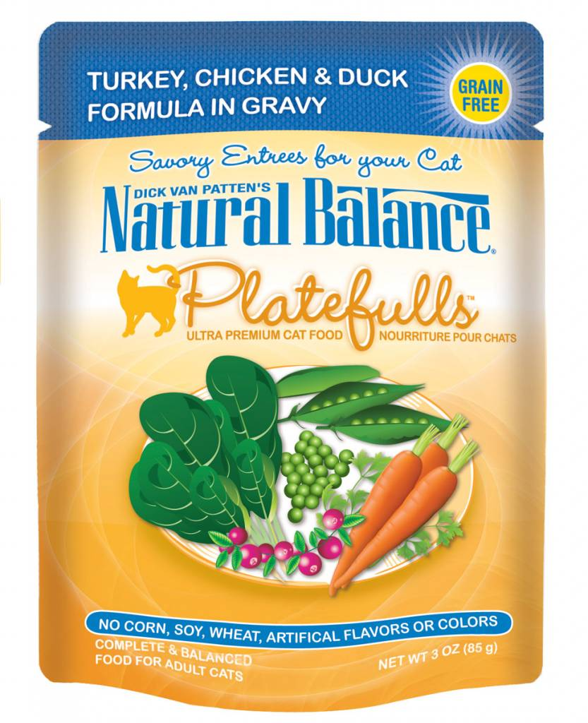 Natural Balance Natural Balance Platefulls Turkey, Chicken & Duck Wet Cat Food 3oz