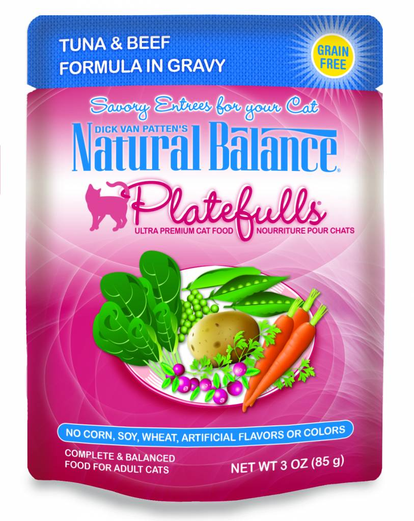 Natural Balance Natural Balance Platefulls Tuna & Beef Wet Cat Food 3oz