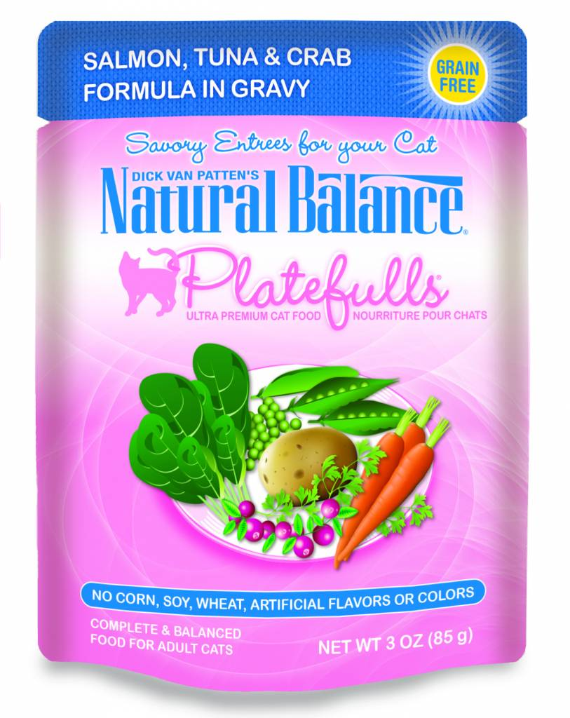 Natural Balance Natural Balance Platefulls Salmon, Tuna & Crab Wet Cat Food 3oz