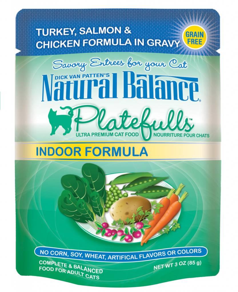 Natural Balance Natural Balance Platefulls Indoor Turkey, Salmon & Chicken Wet Cat Food 3oz