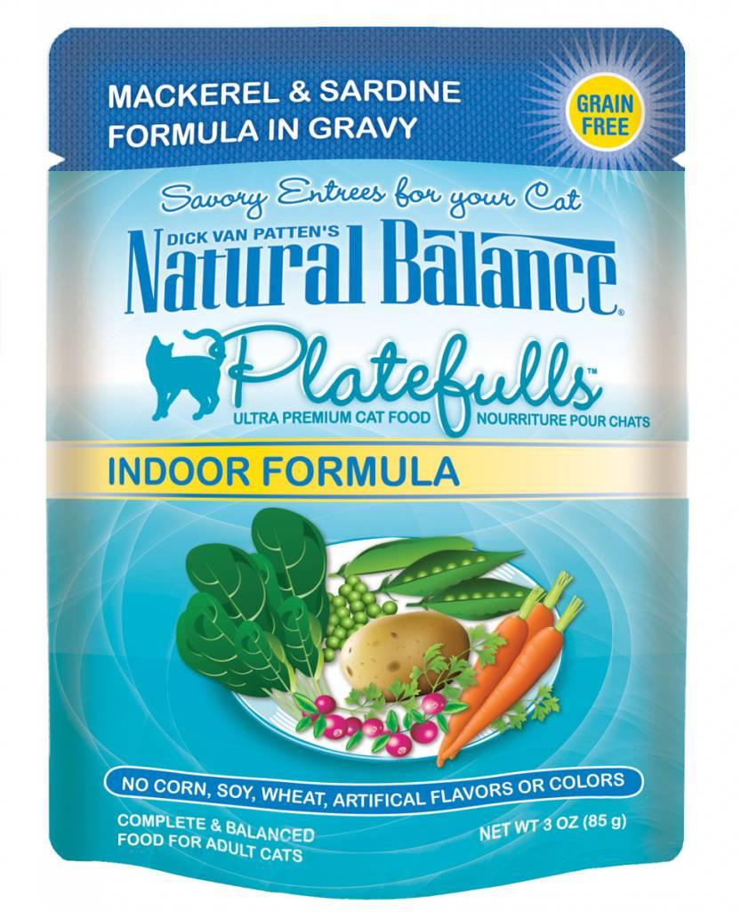 Natural Balance Natural Balance Platefulls Indoor Mackerel & Sardine Wet Cat Food 3oz