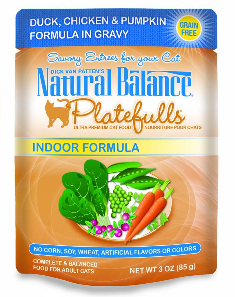 Natural Balance Natural Balance Platefulls Indoor Duck, Chicken & Pumpkin Wet Cat Food 3oz