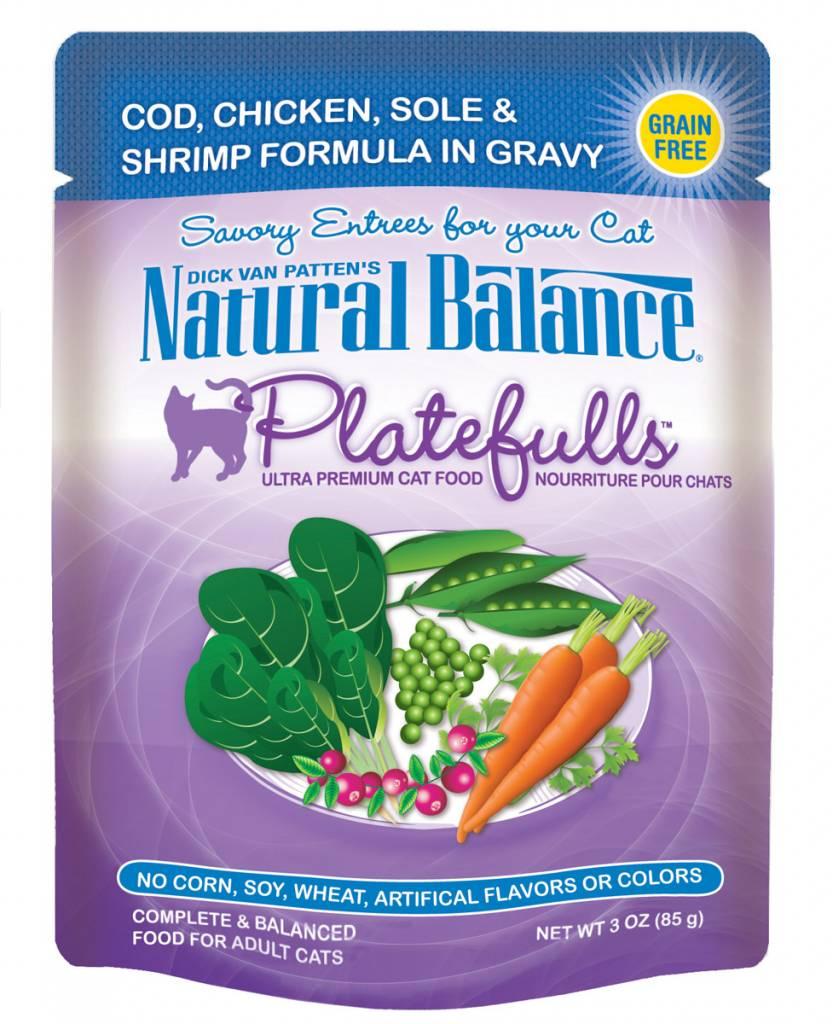 Natural Balance Natural Balance Platefulls Cod, Chicken, Sole & Shrimp Wet Cat Food 3oz