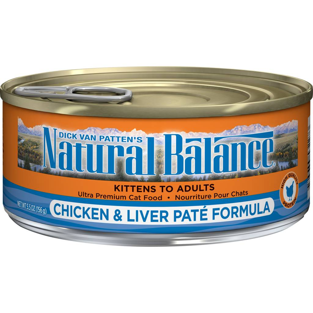 Natural Balance Natural Balance Chicken & Liver Pate Wet Cat Food 5.5oz