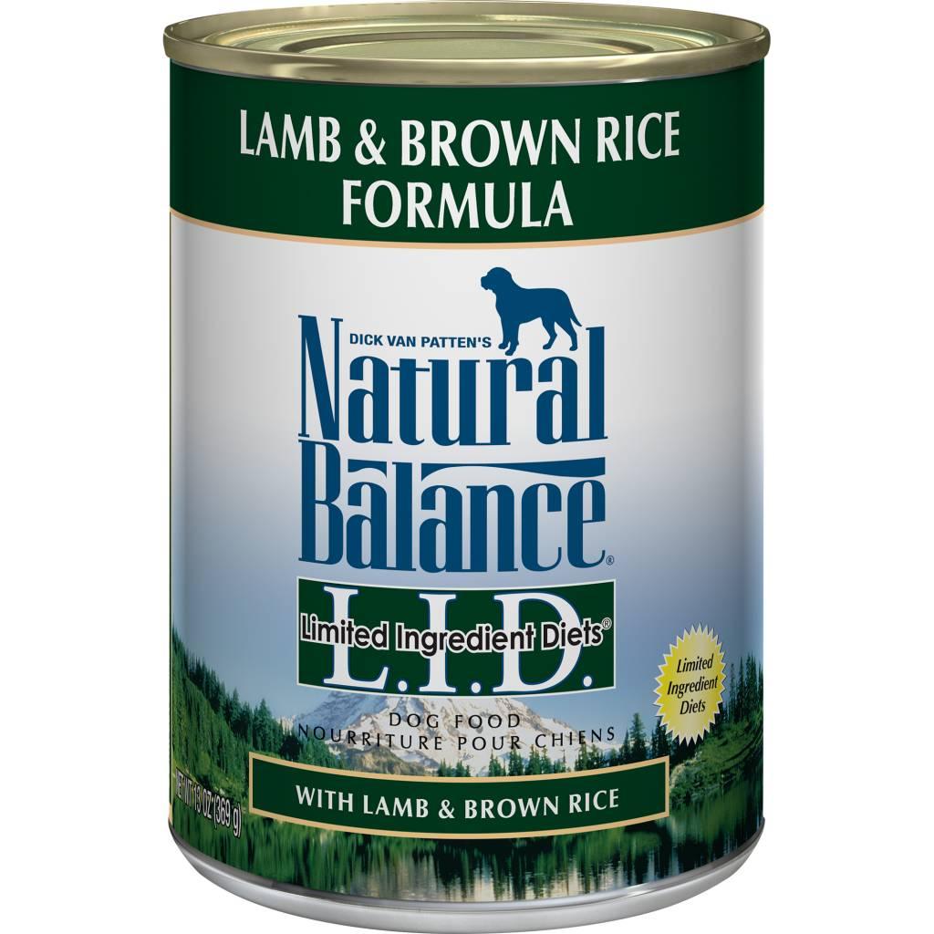 Natural Balance Natural Balance Limited Ingredient Diet Lamb & Brown Rice Wet Dog Food 13oz