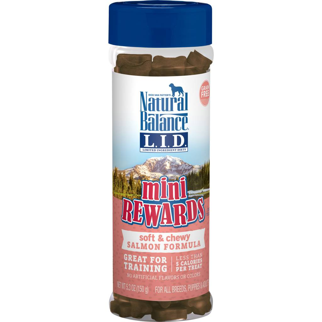 Natural Balance Natural Balance Mini Rewards Salmon Dog Treats 5.3oz Canister