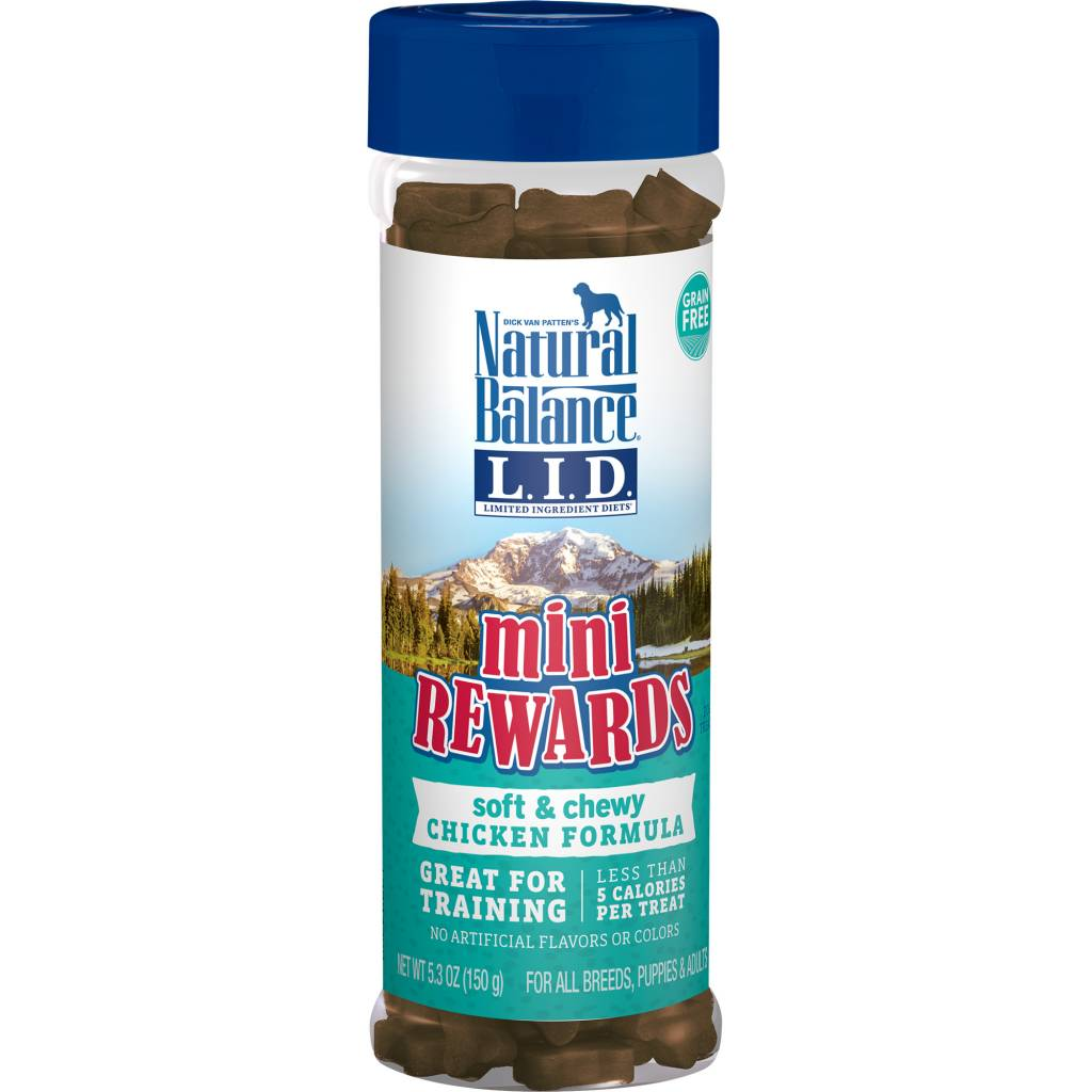 Natural Balance Natural Balance Mini Rewards Chicken Dog Treat 5.3oz Canister