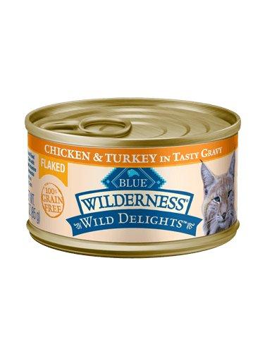 Blue Buffalo Blue Buffalo Wilderness Wild Delights Flaked Chicken & Turkey Wet Cat Food