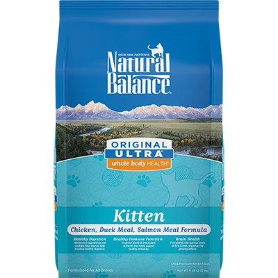 Natural Balance Natural Balance Ultra Chicken, Duck Meal & Salmon Meal Kitten Dry Cat Food