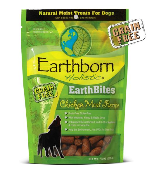 Earthborn EarthBites Chicken Meal Dog Treats 7.5oz