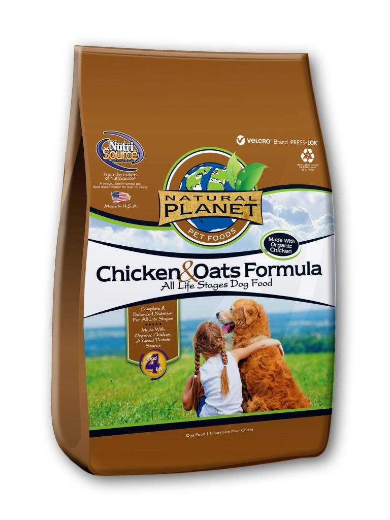 NutriSource Natural Planet Chicken & Oats Dry Dog Food