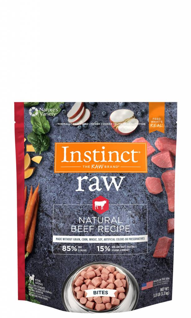 Nature S Variety Instinct Raw Accessible Bites Natural Beef Dog