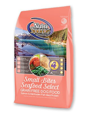 NutriSource NutriSource Grain Free Small Bites Seafood Select Salmon Dry Dog Food