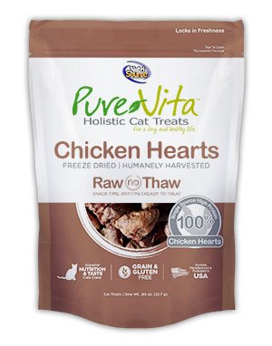 NutriSource PureVita Freeze Dried Chicken Heart Cat Treats 0.8oz