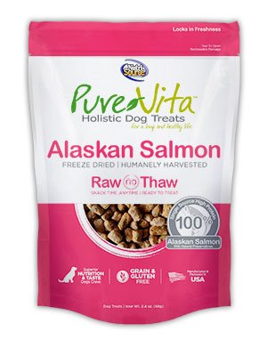 NutriSource PureVita Freeze Dried Alaskan Salmon Dog Treats 2.4oz