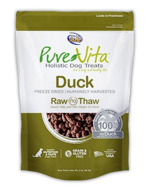 NutriSource PureVita Freeze Dried Duck Dog Treats 2oz