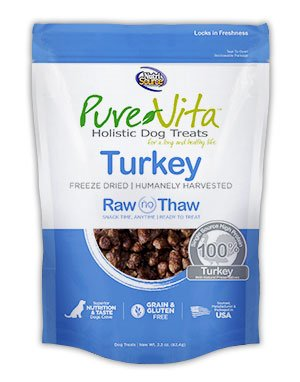 NutriSource PureVita Freeze Dried Turkey Dog Treats 2.2oz