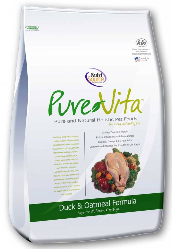 NutriSource PureVita Duck & Oatmeal Dry Dog Food