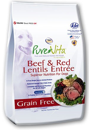 NutriSource PureVita Grain Free Beef & Red Lentils Dry Dog Food