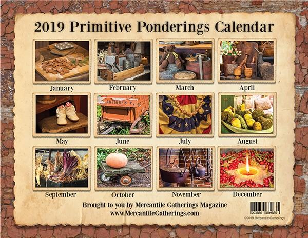 Primitive Ponderings 2019 Calendar