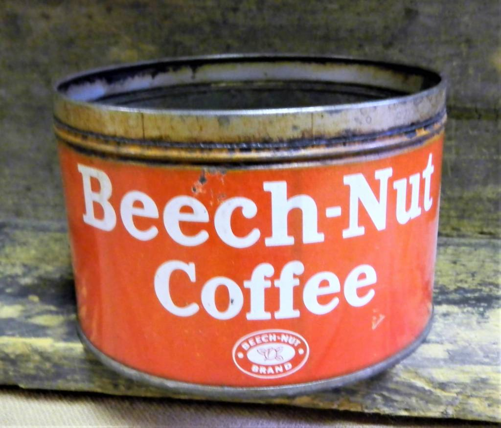 Beech Nut Coffee Tin, Vintage