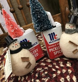 Homemade Spice Tin Snowman
