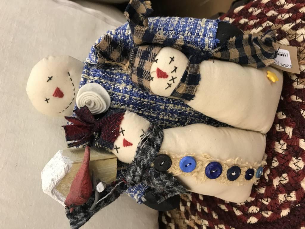 Homemade Snow Family