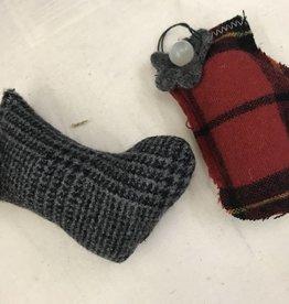 Homemade Wool Stocking/Mitten Ornament