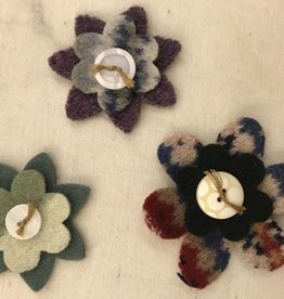 Homemade Wool Felt Flower