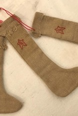 Homemade Tobacco Cloth Stocking Ornament