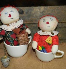 Homemade Tea Cup Doll
