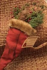 Homemade Hanging Santa Hat