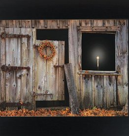 "Summer Snow Art A Little Light Framed Print by Robin Lee- Vieiera, 16.5"" x 22.5"" Espresso"