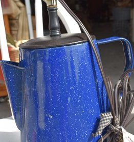 Homemade Enamel Coffee Pot Lamp