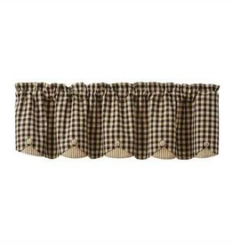 Park Designs Berry Gingham Scalloped Valance