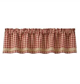 Park Designs Crochet Gingham Lined Border Valance
