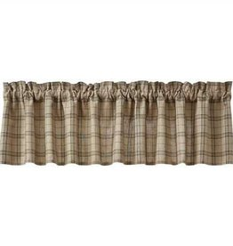 Park Designs Fieldstone Plaid Valance Black