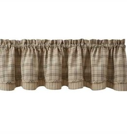 Park Designs Fieldstone Plaid Lined Layered Valance