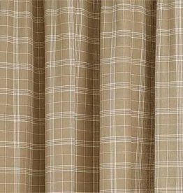 "Park Designs Cream Fieldstone Plaid Shower Curtain 72"" x 72"""