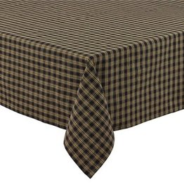"Park Designs Tablecloth, Sturbridge Black 60"" x 84"" Rectangle"